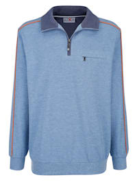 Sweatshirt med kontrasterande passpoaler