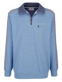 Sweatshirt mit Paspelierung in Kontrastfarben