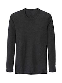 Langarm-Shirt aus Wolle und Seide STANDARD 100 by OEKO-TEX zertifiziert