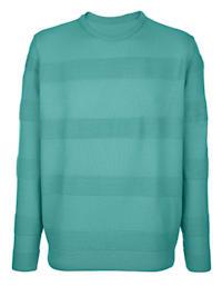Pullover mit Streifen in Rippenstrick