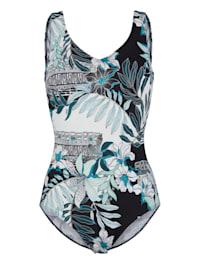 Plavky módní květinový potisk