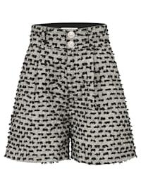 Shorts aus Bouclé