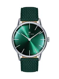 Uhr Serenity Greenhill Silver Dark Green Perlon 32mm