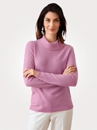 Roll neck jumper made from sustainable cashmere