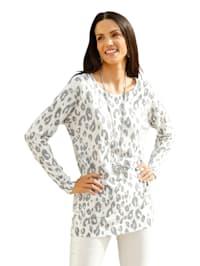Leopardmönstrad tröja med strass