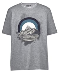T-shirt in dubbellaagse look