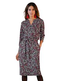 Jersey jurk met print rondom