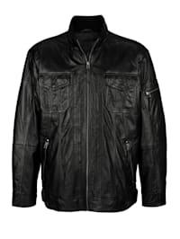 Kožená bunda z měkké jehněčí nappa kůže