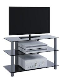 TV Möbel Rack Alu Glas Sindas