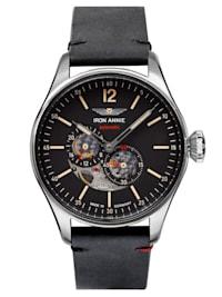 Herren-Armbanduhr Automatik Flight Control Schwarz