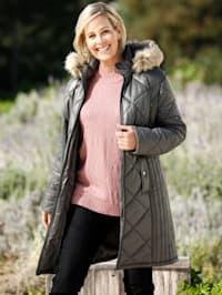 Manteau court à capuche amovible