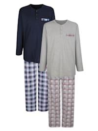 Schlafanzug im 2er-Pack