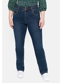 Jeans mit hohem Bund und Dekotapes