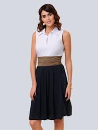 Kleid in Colourblocking-Optik
