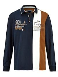 Poloshirt mit Druck und Stickerei