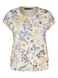 Shirt mit Mustermix und Glitzerdetails