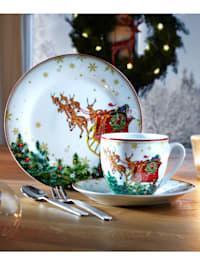 Service à café 'Père Noël' 18 pièces