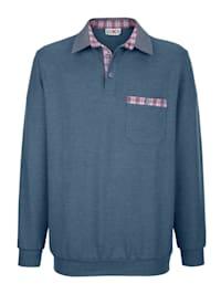 Sweatshirt med rutete besetninger