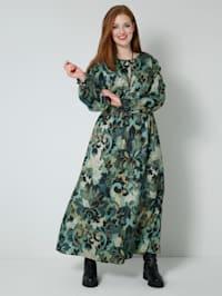 Web-Kleid mit gesmokter, elastischer Taille