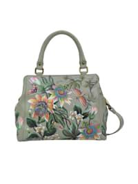 Umhängetasche Floral Passion (Handbemaltes Leder)