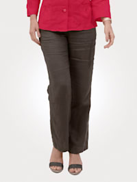 Linen trousers in a pull-on design