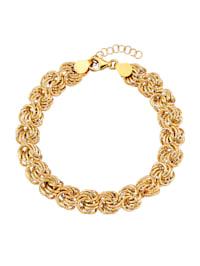 "Bracelet ""roses"" en or jaune 585"