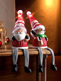 Sedící LED figurky 2 ks