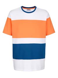 Shirt met contrastkleurige inzetten
