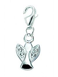Damen Silberschmuck 925 Silber Charms Anhänger Engel mit Zirkonia