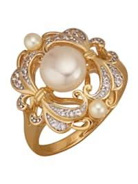 Damenring aus Silber 925, vergoldet
