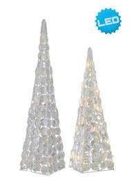 2er-Set LED Acryl Pyramiden