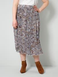 Plisovaná sukňa s celoplošnou potlačou