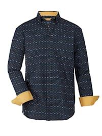 Chemise à motif graphique tissé-teint