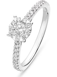 CHRIST Damen-Damenring 585er Weißgold 32 Diamant