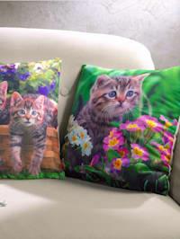 2 kuddfodral med katter