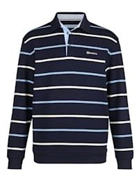 Sweat-shirt à col polo