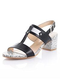 Sandaletter med mönstrad sula