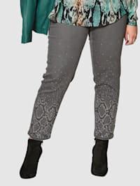 Jeans med gnistrande strass