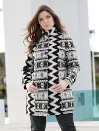 Robe manteau met geraffineerd dessin