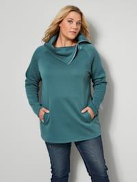 Sweatshirt med stor krage