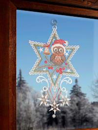 Okenní dekorace Vánoční sova
