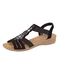 Sandaler med applikasjon