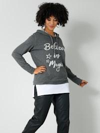 Sweatshirt in 2-in-1 Optik