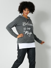 Sweatshirt in 2-in-1-look