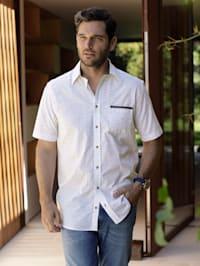 Overhemd met fijne strepen