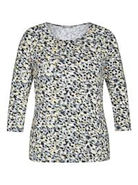 Shirt mit Tupfen-Muster und 3/4-Ärmeln