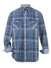 Džínsová košeľa v used vzhľade