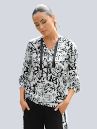 Strandshirt met graffitiprint