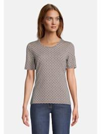 Kurzarm-Shirt mit Struktur