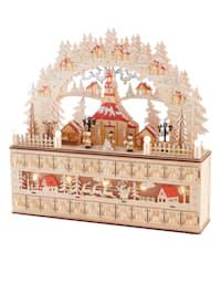 Itse täytettävä puinen LED-joulukalenteri
